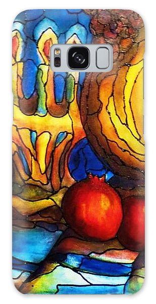 Still Life With Grapes And Pomegranates Galaxy Case by Rae Chichilnitsky