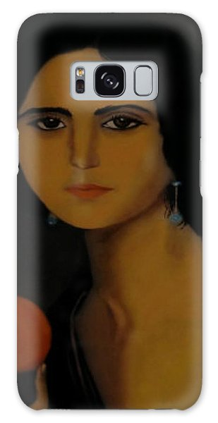 Untitled Woman With Orange Galaxy Case