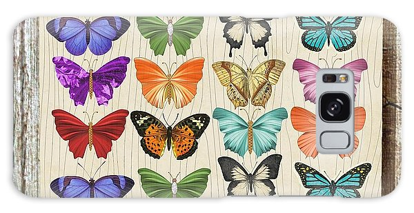 Colourful Butterflies Collage Galaxy Case