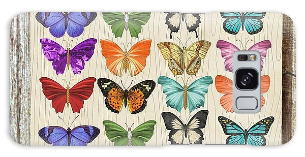 Unusual Colourful Butterfly Collage Galaxy Case