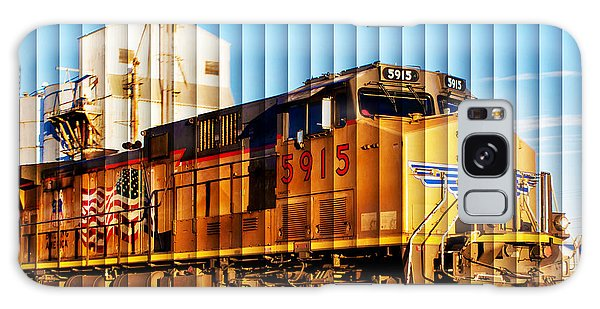 Up 5915 At Track Speed Galaxy Case by Bill Kesler