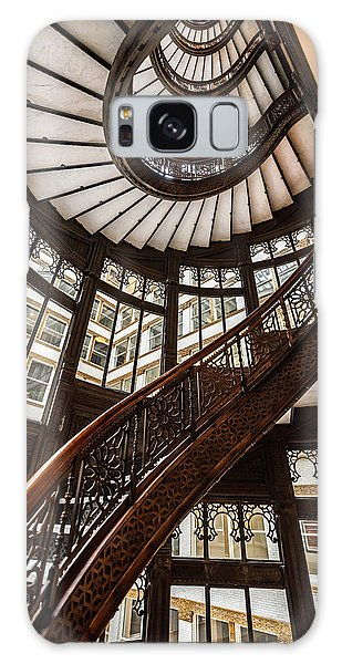 Up The Iconic Rookery Building Staircase Galaxy Case