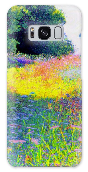 Uphill In The Meadow Galaxy Case by Shirley Moravec