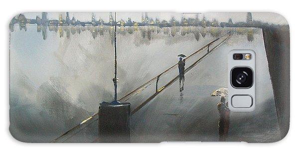 Upon The Boardwalk Galaxy Case by Raymond Doward