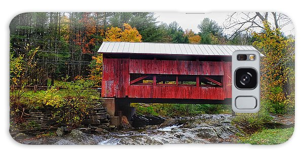 Upper Cox Brook Covered Bridge In Northfield Vermont Galaxy Case