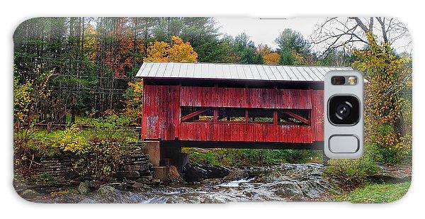 Upper Cox Brook Covered Bridge In Northfield Vermont Galaxy Case