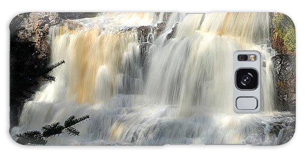 Upper Falls Gooseberry River Galaxy Case