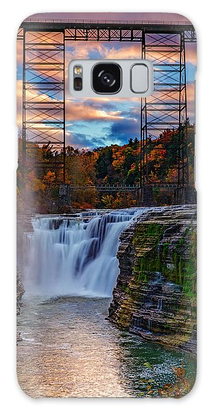 Upper Falls Letchworth State Park Galaxy Case by Rick Berk