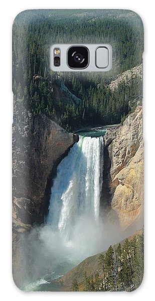 Upper Falls, Yellowstone River Galaxy Case