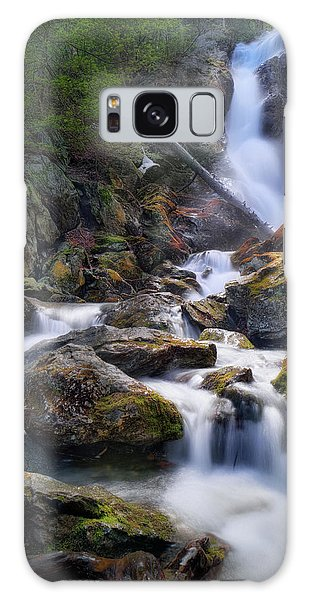 Galaxy Case featuring the photograph Upper Race Brook Falls 2017 by Bill Wakeley