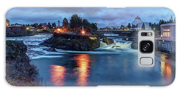 Upper Spokane Falls At Dusk Galaxy Case