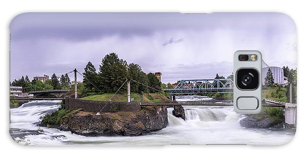 Upper Spokane Falls On A Rainy Day Galaxy Case