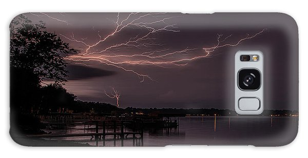Upward Lightning Galaxy Case by John Crothers