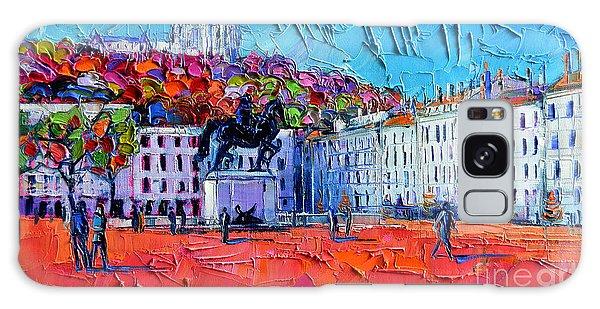 Urban Impression - Bellecour Square In Lyon France Galaxy Case
