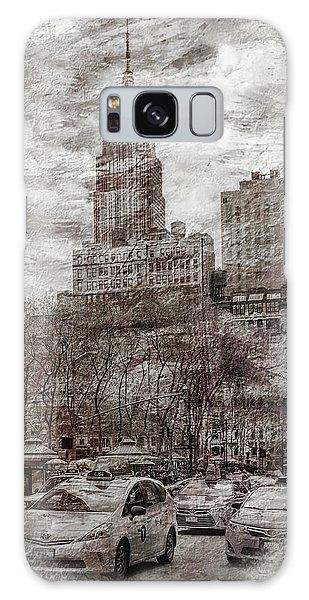 New York City Taxi Galaxy Case - Urban Rush by Az Jackson