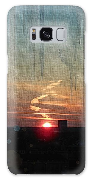 Galaxy Case featuring the painting Urban Sunrise by Ivana Westin