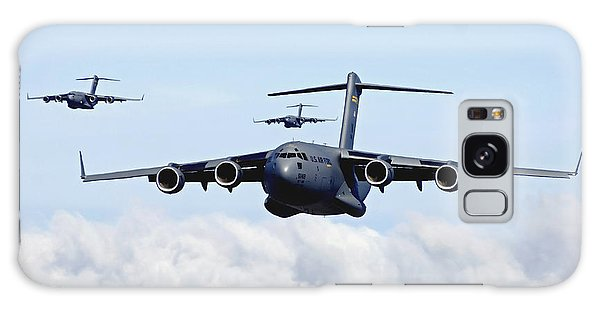 Galaxy Case featuring the photograph U.s. Air Force C-17 Globemasters by Stocktrek Images