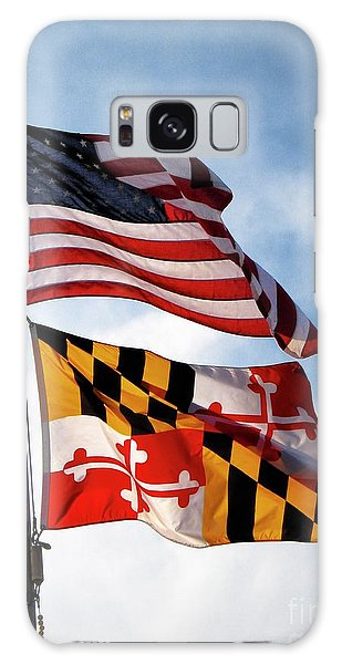 Us And Maryland Flags Galaxy Case