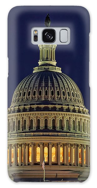 U.s. Capitol At Night Galaxy Case