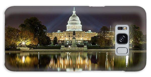 Us Capitol Night Panorama Galaxy Case