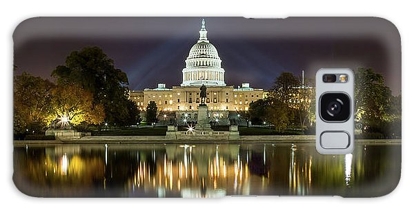 Us Capitol Night Panorama Galaxy Case