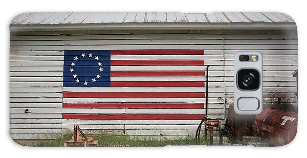 Us Flag Barn Galaxy Case