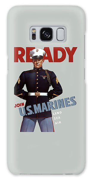Us Marines - Ready Galaxy Case by War Is Hell Store