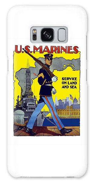 Political Galaxy Case - U.s. Marines - Service On Land And Sea by War Is Hell Store