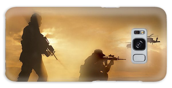 Galaxy Case featuring the photograph U.s. Special Forces Provide Security by Tom Weber