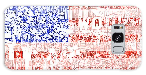 Patriotic Galaxy Case - Usa Flag 1 by Bekim Art