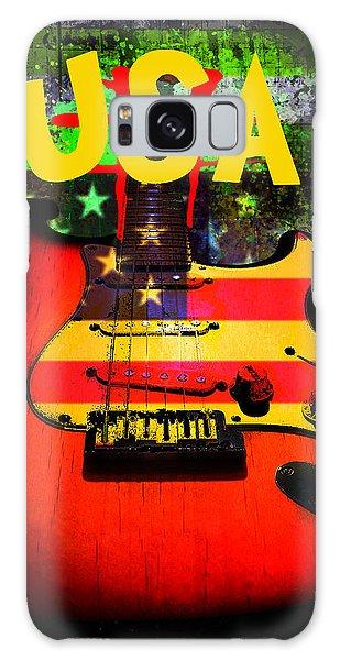 Galaxy Case featuring the digital art Usa Guitar Music by Guitar Wacky
