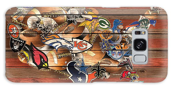 Usa Nfl Map Collage 6 Galaxy Case