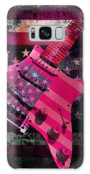 Usa Pink Strat Guitar Music Galaxy Case