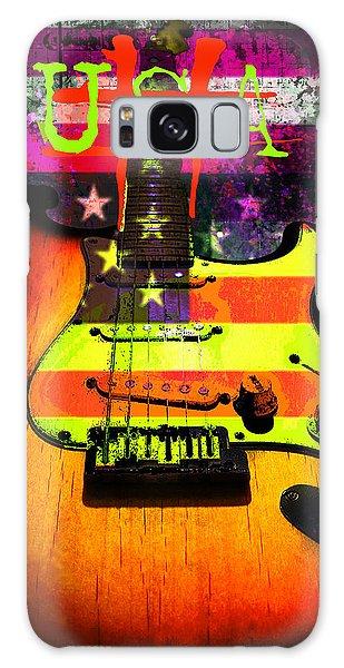 Galaxy Case featuring the digital art Usa Strat Guitar Music by Guitar Wacky