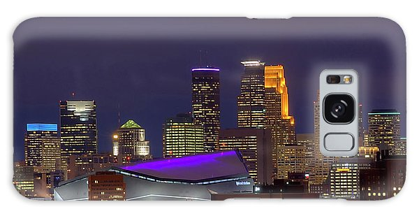 Usbank Stadium Dressed In Purple Galaxy Case
