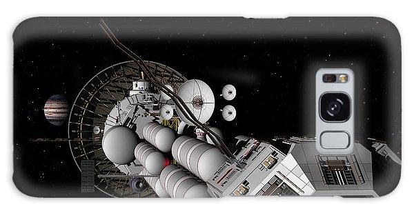 Uss Savannah Nearing Jupiter Galaxy Case by David Robinson