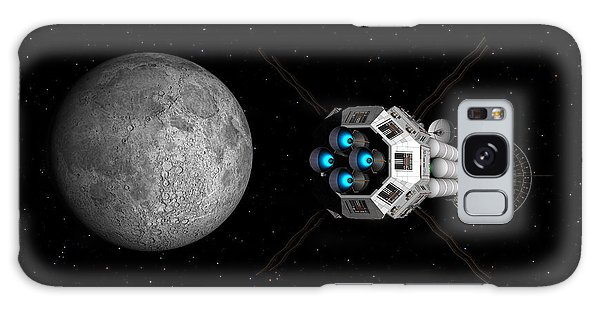 Uss Savannah Passing Earth's Moon Galaxy Case by David Robinson