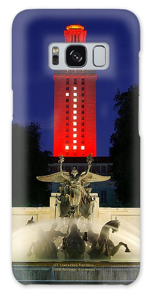 Ut Austin Tower Orange Galaxy Case