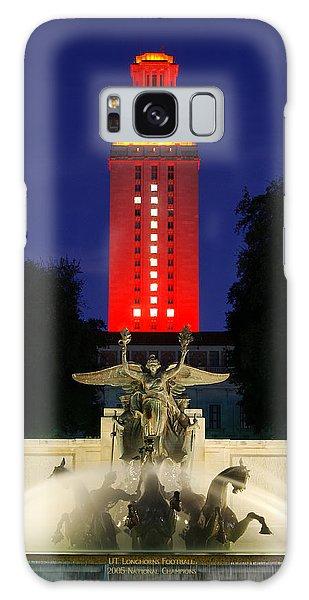 Texas Galaxy Case - Ut Austin Tower Orange by Lisa Spencer