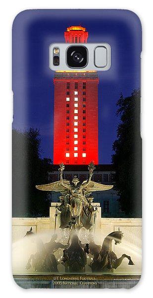 Ut Austin Tower Orange Galaxy Case by Lisa  Spencer