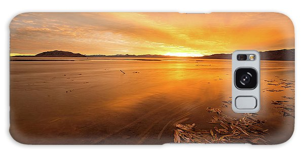 Galaxy Case featuring the photograph Utah Lake Sunset by Wesley Aston