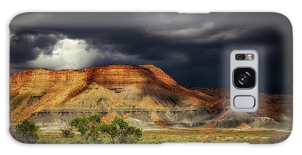 Utah Mountain With Storm Clouds Galaxy Case