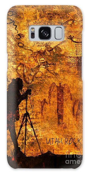Utah Rock Art Montage Galaxy Case by Marianne Jensen