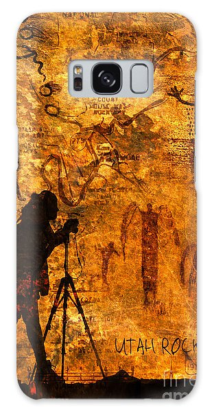 Utah Rock Art Montage Galaxy Case