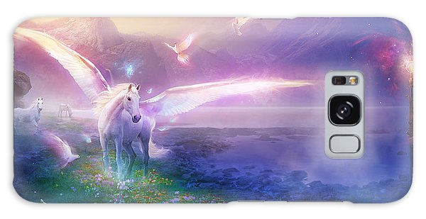 Utherworlds Winter Dawn Galaxy Case by Philip Straub
