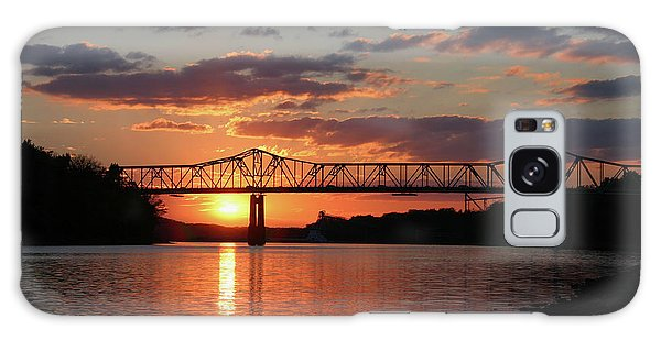 Utica Bridge At Sunset Galaxy Case