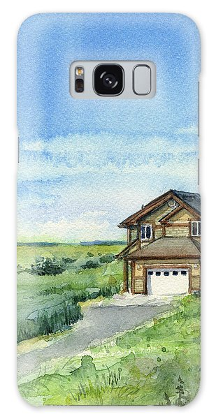 Dune Galaxy Case - Vacation House In A Field - Watercolor - Long Beach, Wa by Olga Shvartsur