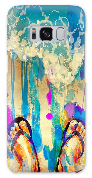 Galaxy Case featuring the painting Vacation Time by Tithi Luadthong