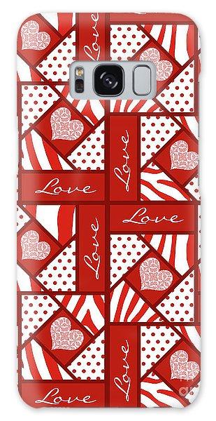 Valentine 4 Square Quilt Block Galaxy Case