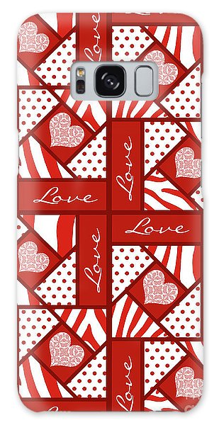 Valentine 4 Square Quilt Block Galaxy Case by Methune Hively